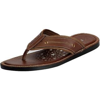 FAUSTO Brown Men's House Slipper & Flip flops