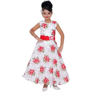 Saarah White Gown for girls