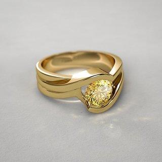 Natural Yellow Sapphire Ring Stone PUKHRAJ RING Natural  Lab Certified Stone Jaipur Gemstone