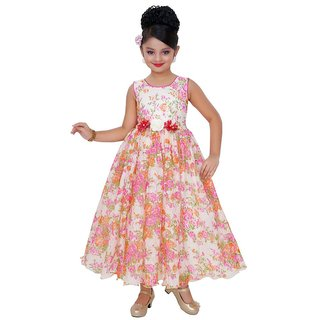 Saarah Multicoloured Gown for girls