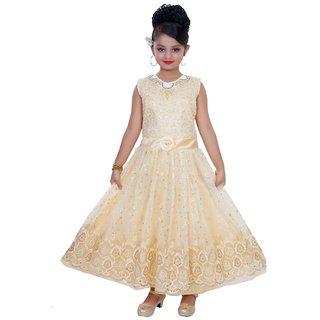 Saarah Cream Dress For Girls