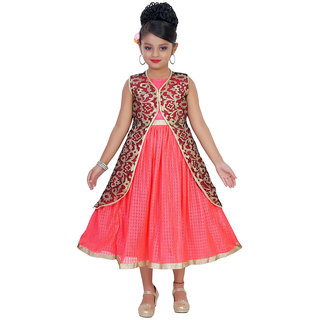 Saarah Red Dress For Girls