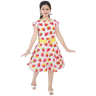 Saarah Multicoloured Cotton Frock for girls