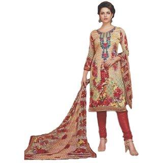 SrishtiCreations Woman's Summer Cotton Suit with dupatta(Unstitched Suit)