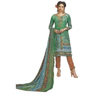 SrishtiCreations  Women's Glace Cotton Salwar Suit With Dupatta.(Unstitched Suit)