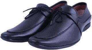 VISACH Men Lace up Black Formal Shoes (VSFOOTWEAR109)