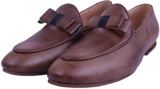 VISACH Men Lace up Brown Formal Shoes (VSFOOTWEAR110)