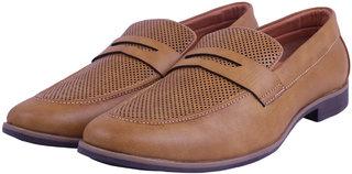 VISACH Tan Leather Loafer For Men (VSFOOTWEAR111)