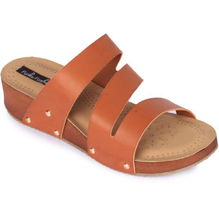 Funku Fashion Women's Tan Wedges