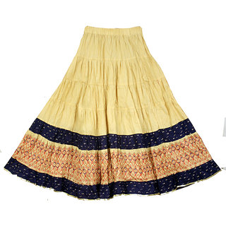 Adiboo Long Skirts for Girls cotton made multi coloured printed 5-12 years.