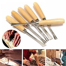 6pcs New Wood Carving Chisel Woodworking Hand Tool Mayitr For Hobby DIY Gouges