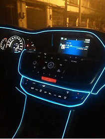 Crystal Blue 5 Meter Car Interior Decoration Cold Light Line EL Wire ( works with all cars )