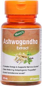 Shrey's Ashwagandha (Withania Somnifera), 500 mg  60 Capsules