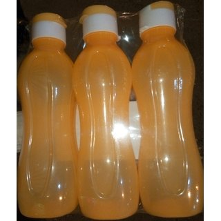 Dwaraka pack of 3 Aqua Bottle 1ltr orange