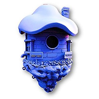 Small Decorative Birds House Blue Shade By prototype