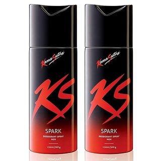 KS KamaSutra Spark Deo - For Men Pack of Two (150 ml x 2)