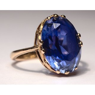Natural Blue Sapphire Ring Stone Neelam Ring 100 Original Jaipur Gemstone