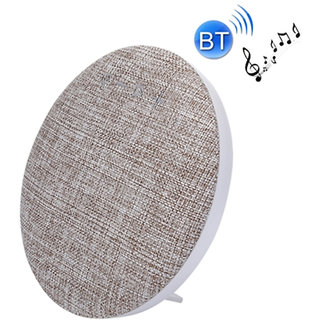 Callmate HDY-001 Portable Round  Shaped  Fabric  Design  Bluetooth  Stereo Speaker with Built-In MIC  Support - White