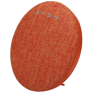 Callmate HDY-001 Portable Round  Shaped  Fabric  Design  Bluetooth  Stereo Speaker with Built-In MIC  Support - Orange