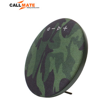 Callmate HDY-001 Portable Round  Shaped  Fabric  Design  Bluetooth  Stereo Speaker with Built-In MIC  Support - Green