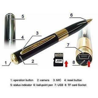 USB Hidden Spy Pen Camera Voice / Video Recorder Dvr Expandable Upto 16GB