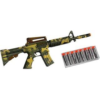 New Pinch Army Air Long dart Gun for kids (multicolor )