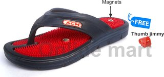 Acm 216 Acupressure Fitness Slipper For Pain Relief Stress Remover Slimming Slippers acu paduka free thumb pad