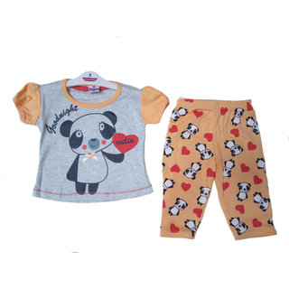 Vedika Creations Cotton Kids Wear Baby Unisex T-Shirt  Shorts