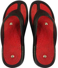 NP NAVEEN PLASTIC Acupressure Slipper / Flip Flop With Magnets For Stress And Pain Relief