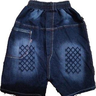 SHAURYA Short For Boys Cotton Linen Blend Cotton Nylon Blend Cotton Linen Blend (Blue Pack of 2)