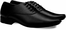 Smoky Black Lace-up Formal Shoes For Men