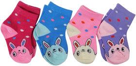 New Kids Comfort Stylish Cartoon Socks(Pack of 4)