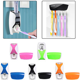 BANQLYN Fashion Plastic Automatic Toothpaste Squeezing Device   Toothbrush Holder Set