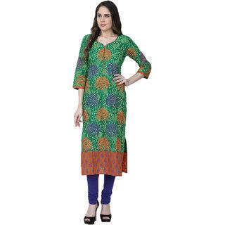 Varsha Fashion Green Cotton Kurta