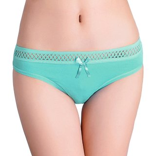 Streetkart Green Breathable Bow Thongs G-String Panty