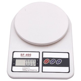 Kartik Digital Kitchen Weighing Scale, Capacity 10 KG, Battery Operated, White