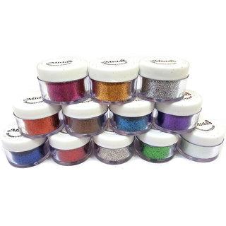 12 Pcs Multi Color Glitter Eye Pigment HOT NEW