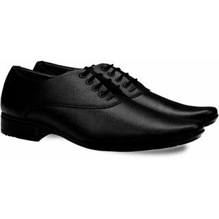 Smoky Black Formal Shoes Lace-up for Men