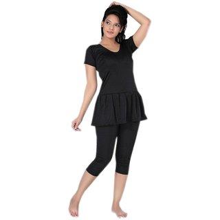 LADIES/ WOMEN/ GIRLS- SWIMMING DRESS- 3/4 LEGGY FROCK STYLE WATER PARK DRESS