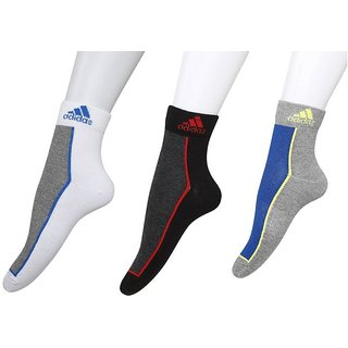Adidas Unisex Ankle Socks - 3 Pair Pack