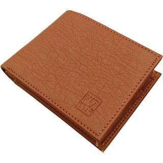 WENZEST Men Tan Artificial Leather Wallet 5 Card Slots ( L-tancardpatti-02)