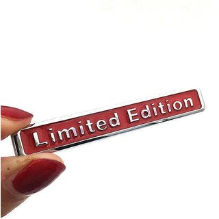 DY 3D Red LIMITED EDITION Car Sticker Fender Tail Trunk Plating Metal Badge Emblem