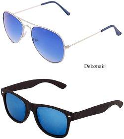 Combo Sunglasses for Men Women Boys Girls Goggles-Blue Lens