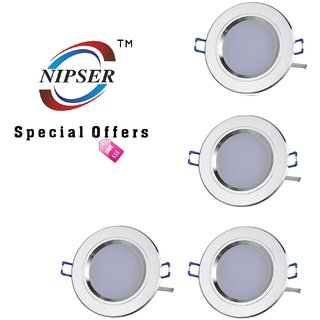 NIPSER 7 Watt LED Concealed Light(Pack of 4)