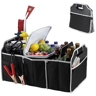 BANQLYN Insulated Leak Proof Collapsible Car Boot Trunk Organiser Organizer Cooler
