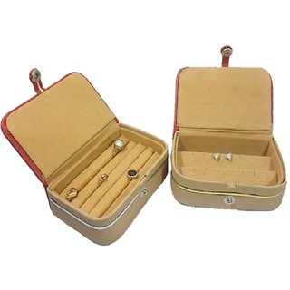 ADWITIYA Combo - Earring Studs Tops Case and Ring Nose Pin Jewelry Storage Travel Friendly Paperboard Gift Box