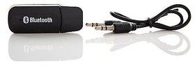 Shivrun Bluetooth Stereo Adapter Audio Receiver Music Wireless Hifi Dongle Transmitter Usb Mp3 Speaker Car (Black)