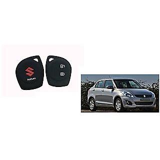 Suzuki Swift Dzire Car Key Cover - 2 Button Matte Black