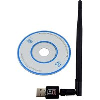 Statusbright Wi-Fi Receiver 2.4 Ghz 802.11B/G/N 2.0 Wi-Fi Network USB Adapter (Black)