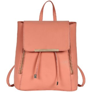 9b2df823de Buy Styler king Women Girls Ladies Backpack Fashion Shoulder Bag Rucksack  PU Leather Travel bag (Peach) Online - Get 80% Off
